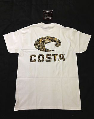 54e6afd3 *New With Tags* Costa Del Mar T-Shirt --Realtree Max-4 Camo-- Short Sleeve[Regular,XL,100%  Cotton,Short Sleeve]