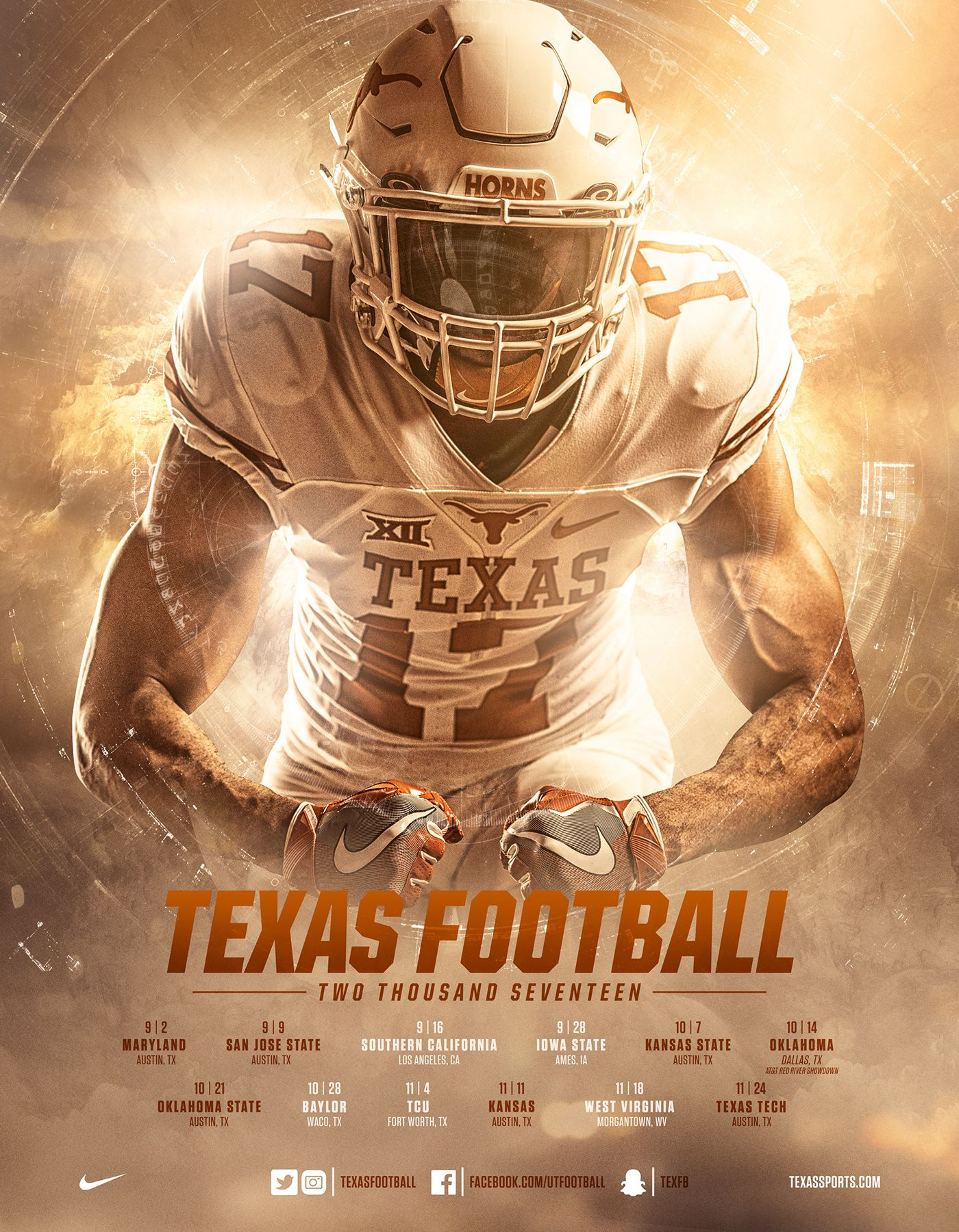 2017 Tom Herman Texas Football Camps Brochure On Behance With