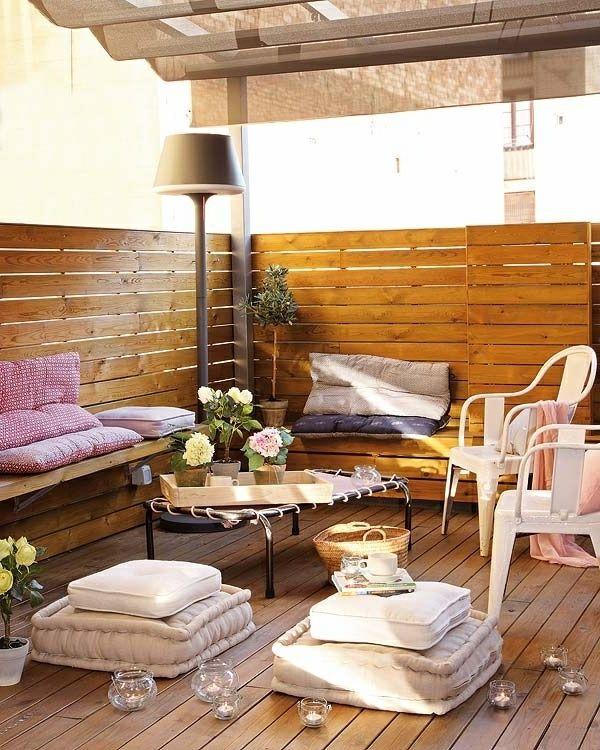 terrasse modern gestalten - deko-elemente am boden - Die besten ...