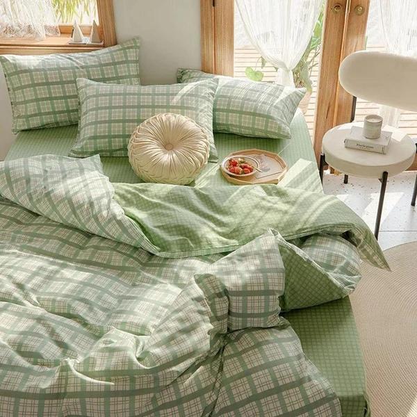 Ruffle Bedding Set Yellow In 2021 Green Bedding Green Duvet Covers Green Bedding Set