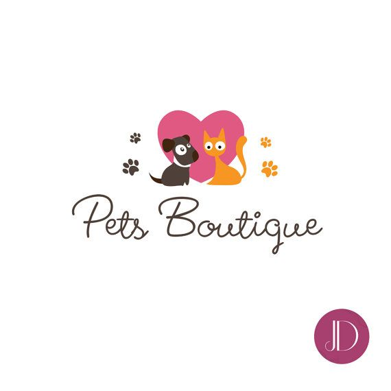 Logo Design Premade Pet Logo Design Pets Boutique Logo Pet