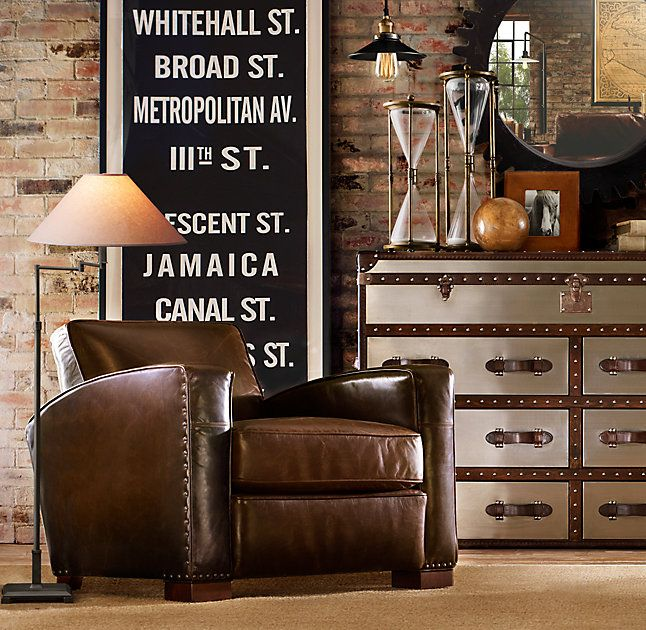 Etonnant Library Leather Chair
