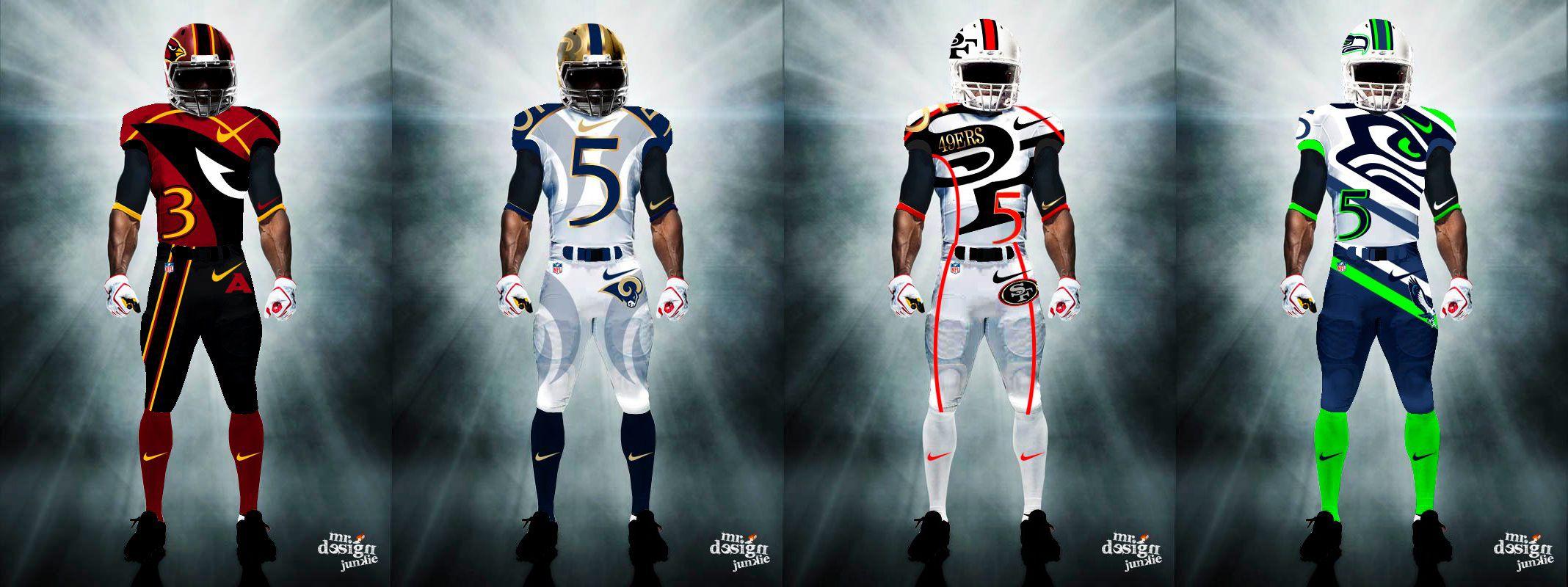 cd599d485 NFC West Uniforms - http   www.fantasyhelp.com 2014