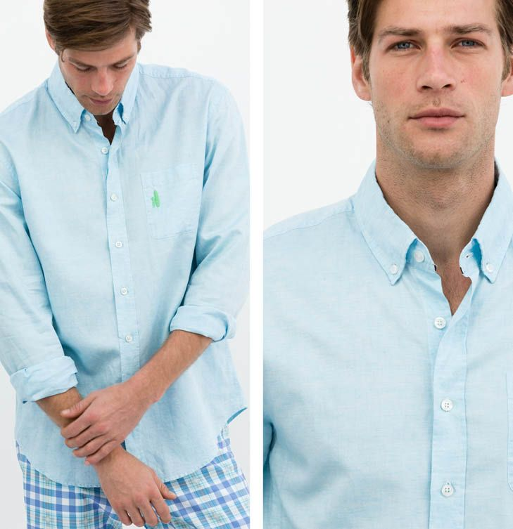 The Bauer button-down will be your new favorite summer shirt. A hybrid linen/cotton button-down, the Bauer won't wrinkle and scratch like a traditional linen shirt and gives just the right amount summer feel. Roll up your sleeves and grab a mai tai, this shirt is a keeper. #johnnieo #westcoastprep