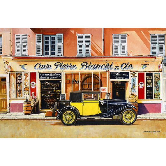 BUGATTI TYPE 40 Print Birthday Gift For Car Fan French Ltd Edition Men Art Guys Sheridon Davies Of Speed