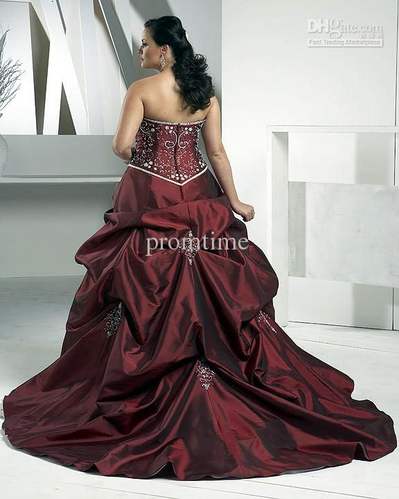 images of plus size wedding gowns with color accents - Google Search
