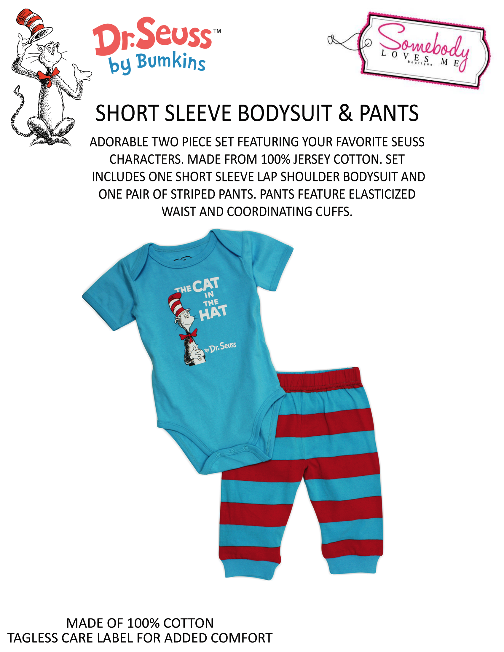 Dr Seuss pants set so adorable Available in 3 6 or 9 months All
