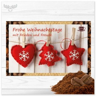 weihnachtsgr e mit kaffee frohe weihnachtstage ca. Black Bedroom Furniture Sets. Home Design Ideas