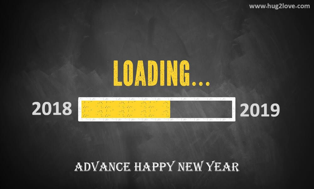 Happy New Year 2019 In Advance And Goodbye 2018 Wallpaper Loading
