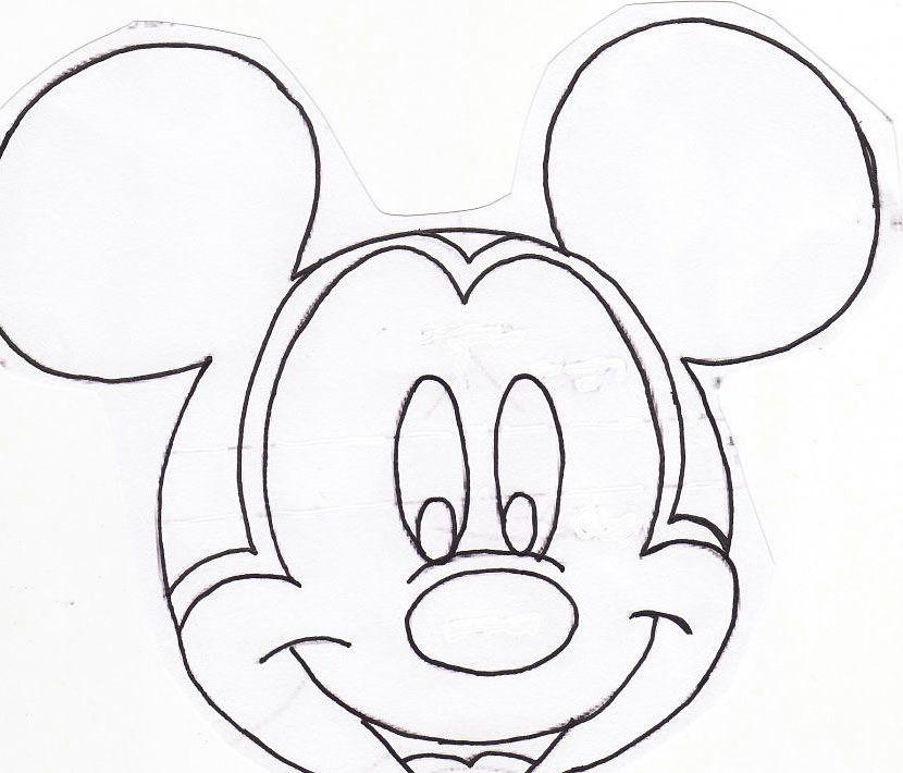 cara de mickey para colorear con niños | Para imprimir | Pinterest
