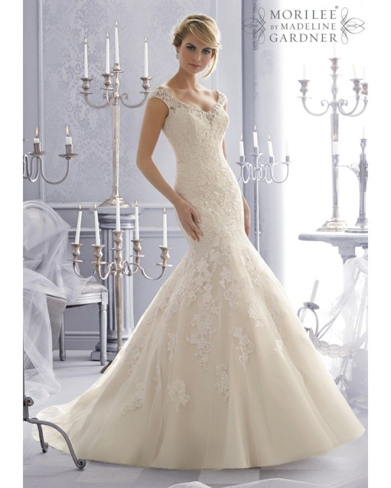 I Really Love This Beautiful Wedding Gown I Think The Lace Overlay Adds Beautiful Detail I Also Like Ho Mori Lee Wedding Dress Bridal Dresses Wedding Dresses