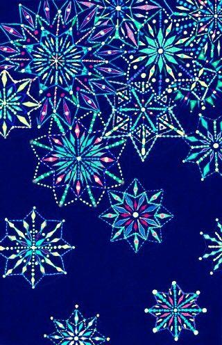Snowflake Neon Wallpaper