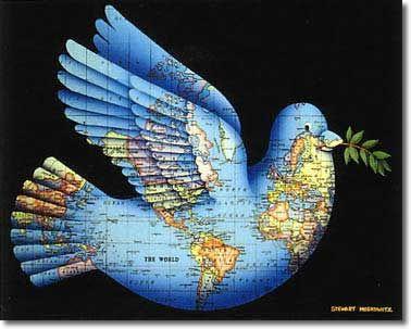 World Peace Peace Bird Beautiful Art Print World Peace