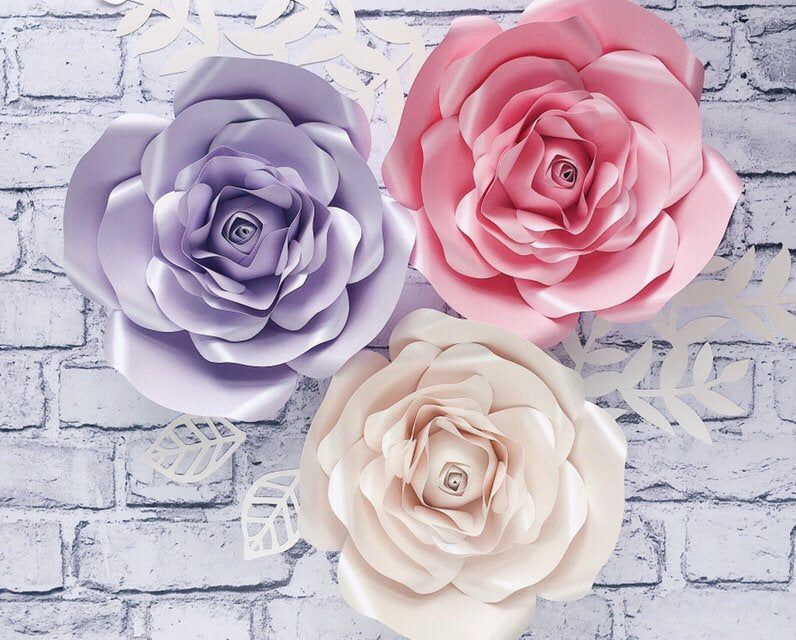 Giant Paper Flowers Backdrop Nursery Wall Decor Papierowe