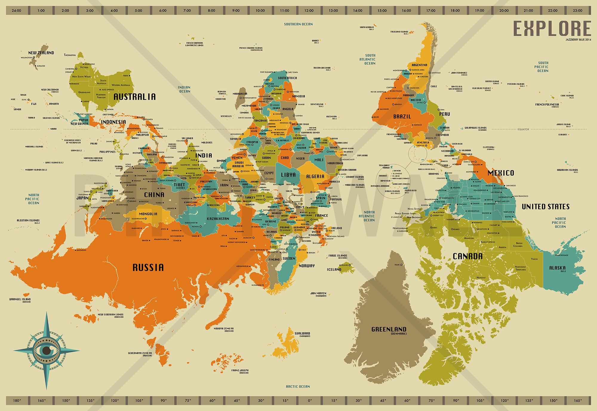 World Map Upside Down World Map Explore Upside Down   Wall Mural & Photo Wallpaper