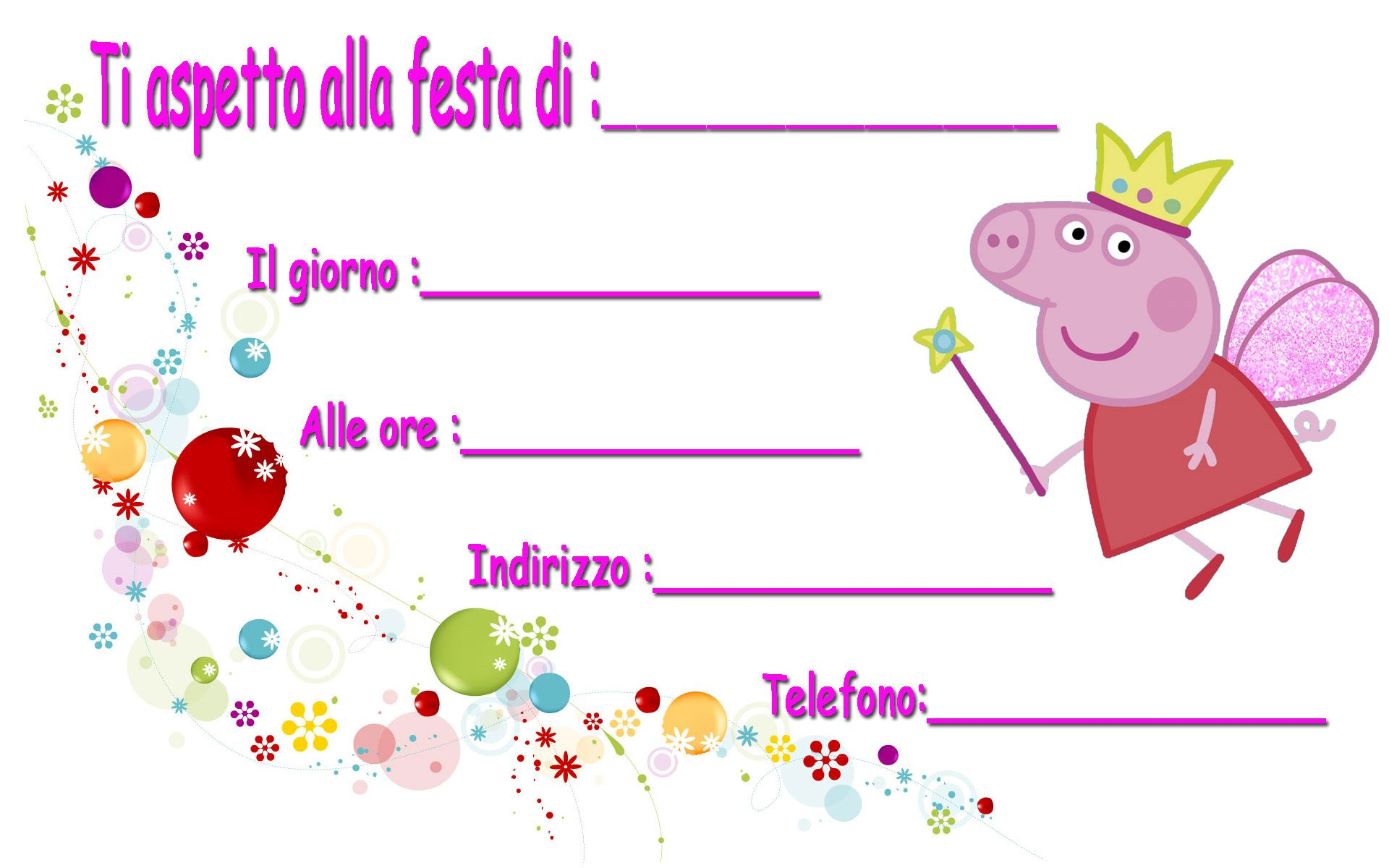 spesso inviti festa peppa pig scaricali gratis http://www.lefestediemma  XR32