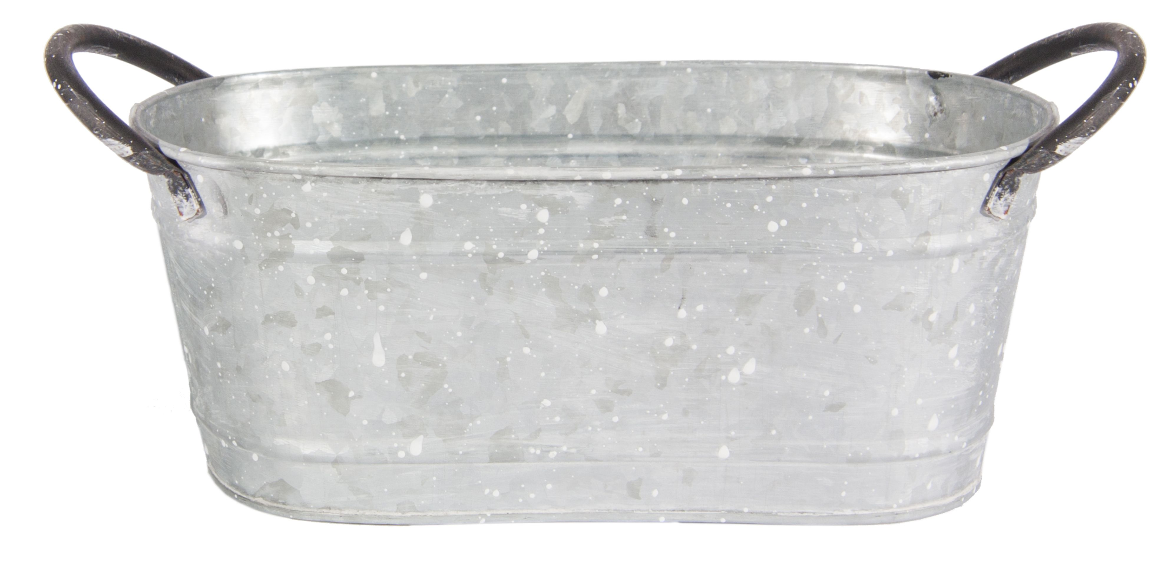 Canfloyd, Garden Expressions - Farmer's Market. E00523 - Large oval gray planter. MSRP $17.50