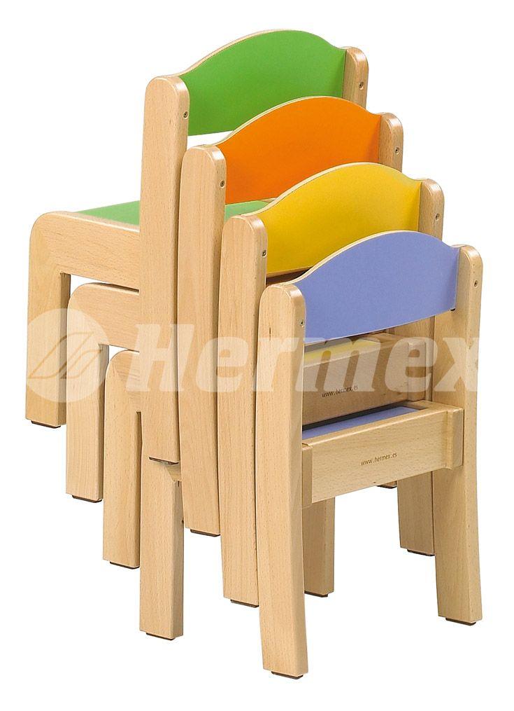 Sillas europa apilables adirondack sillas muebles para for Muebles de madera para ninos