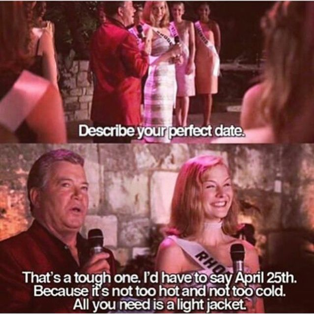 Whats Your Idea Of A Perfect Date Miss Congeniality