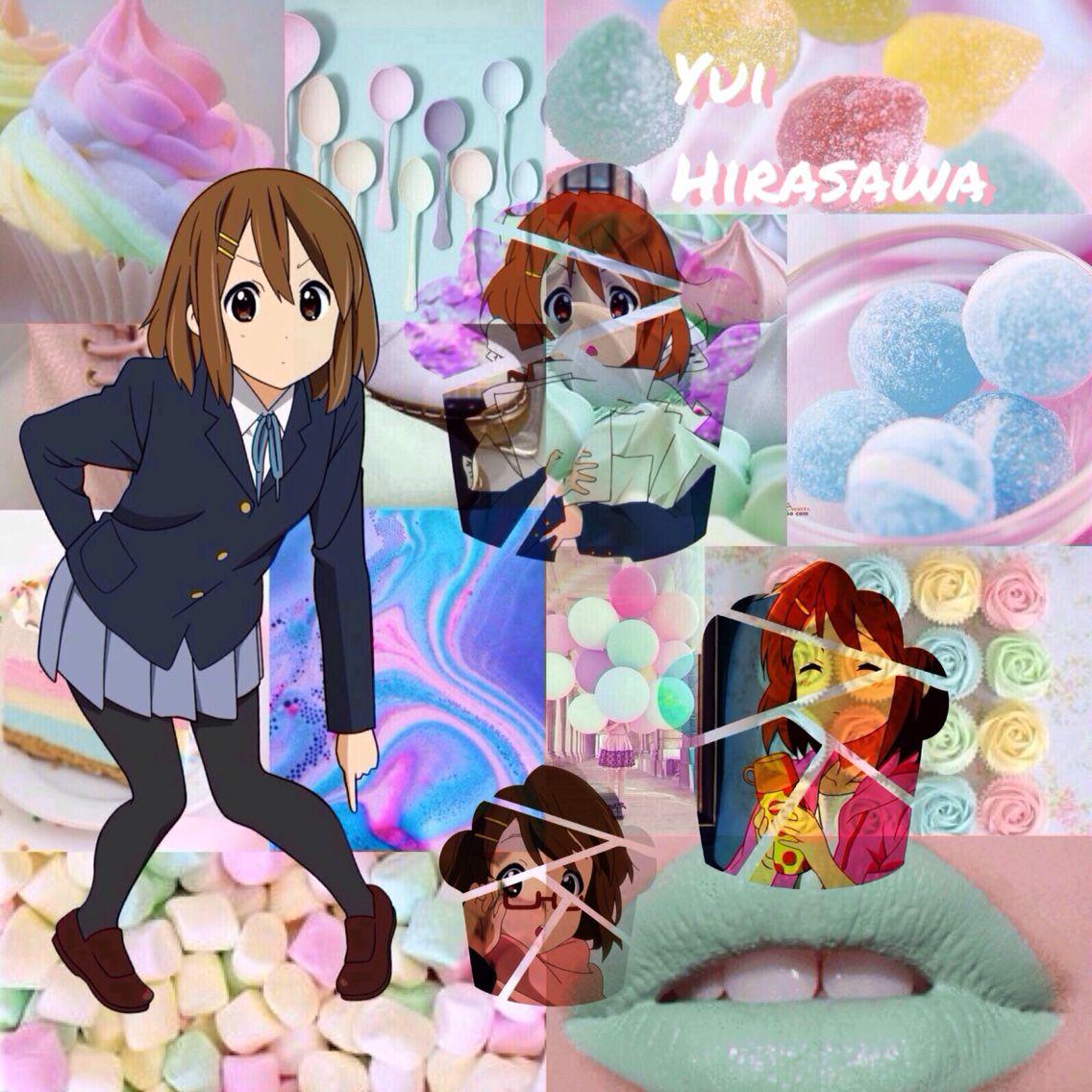 Yui Hirasawa pastel edit Pastel edits, Anime, Photo editing