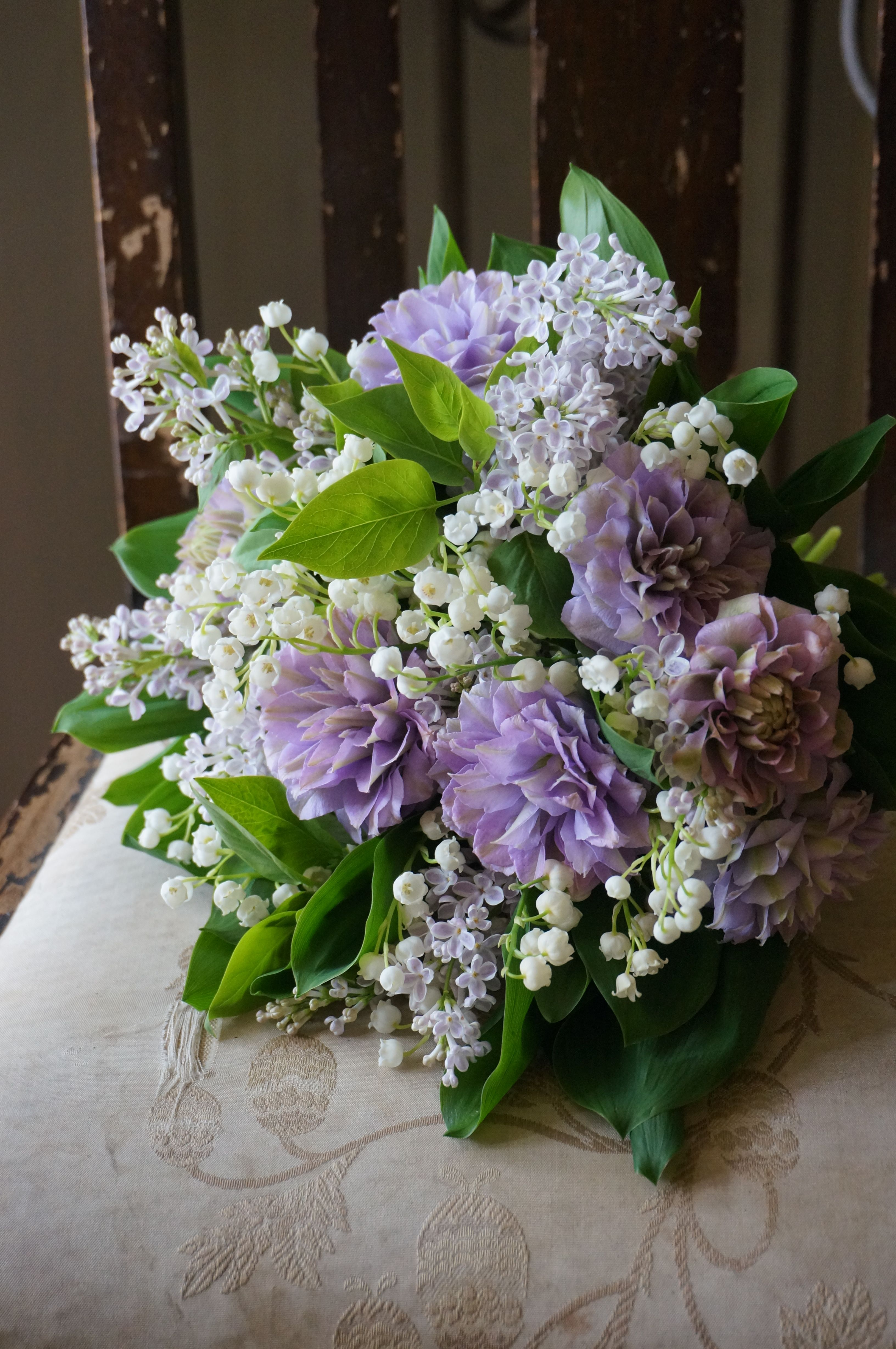 clematis,lilac and lily of the valleyThere are no words to