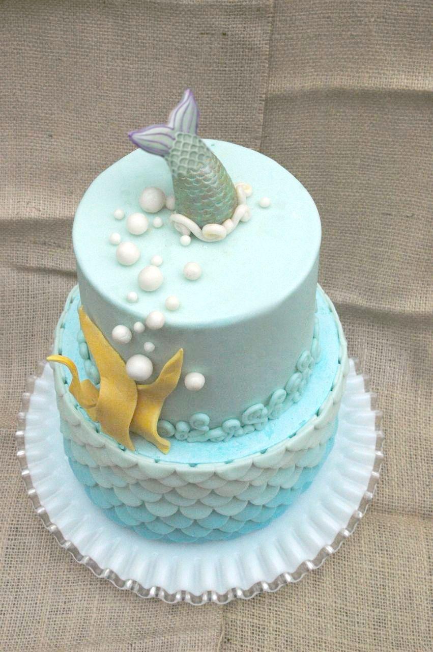 Surprising Blue Ombre Ocean Birthday Cake Ocean Birthday Cakes Cake Ocean Personalised Birthday Cards Sponlily Jamesorg