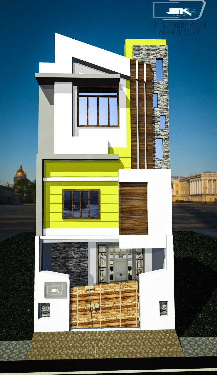 Small House Elevation Design Duplex House Design Latest House Designs: Introducing Indian Modern House Exterior Elevation By Er Sameer Khan