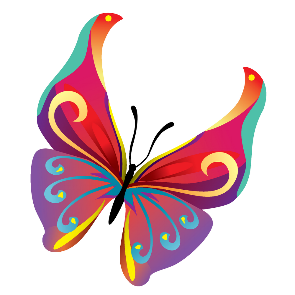 free vector 14 colours butterfly vector butterfly s pinterest rh pinterest com butterfly vector art butterfly vector art