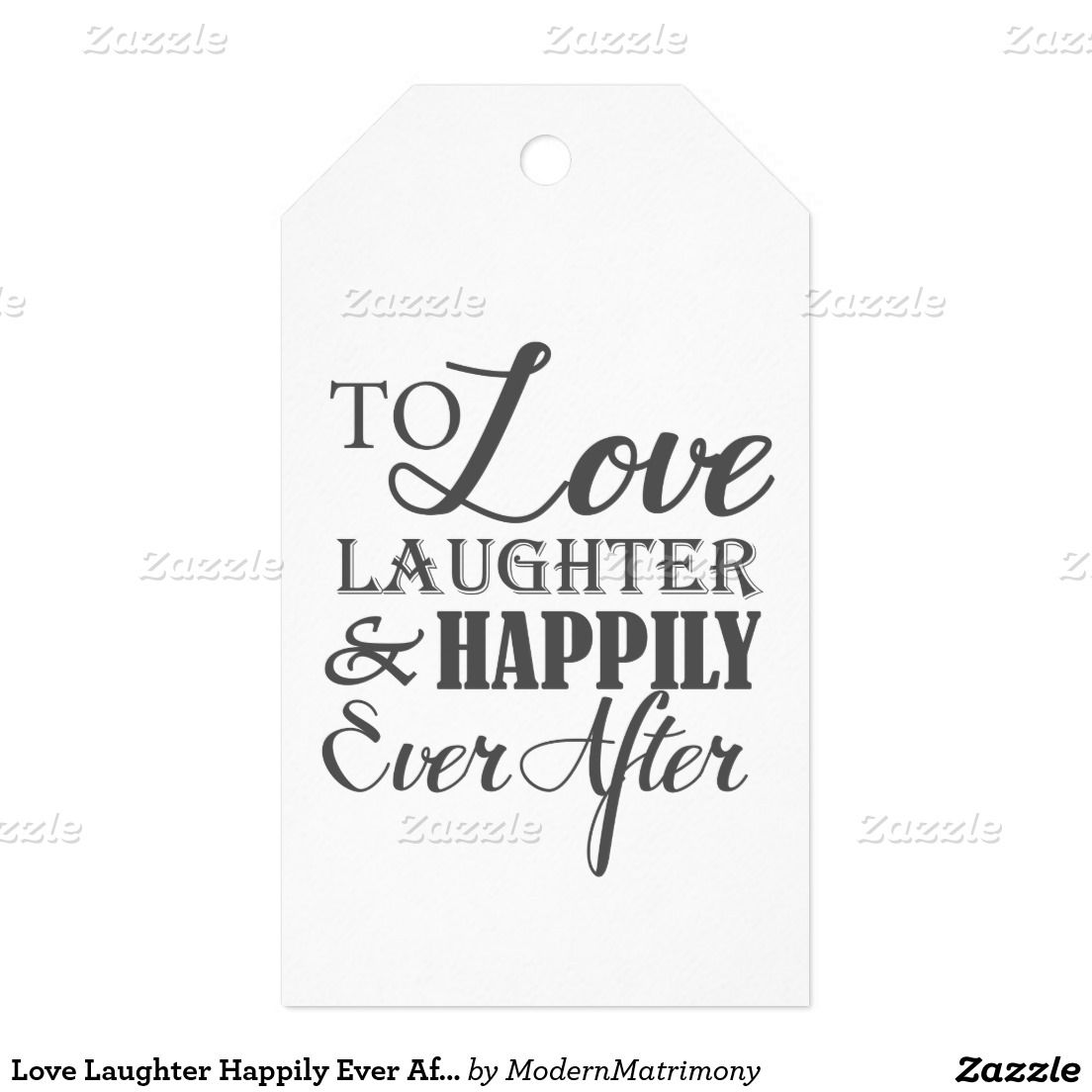 Love Laughter Happily Ever After Wedding Gift Tags | Wedding