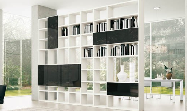 Room Partition With Storage