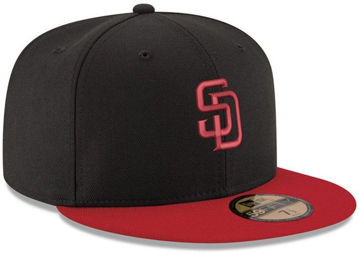 huge discount 8a0ac 112cb ... sweden new era san diego padres black red 59fifty fitted cap san diego  padres fitted caps ...