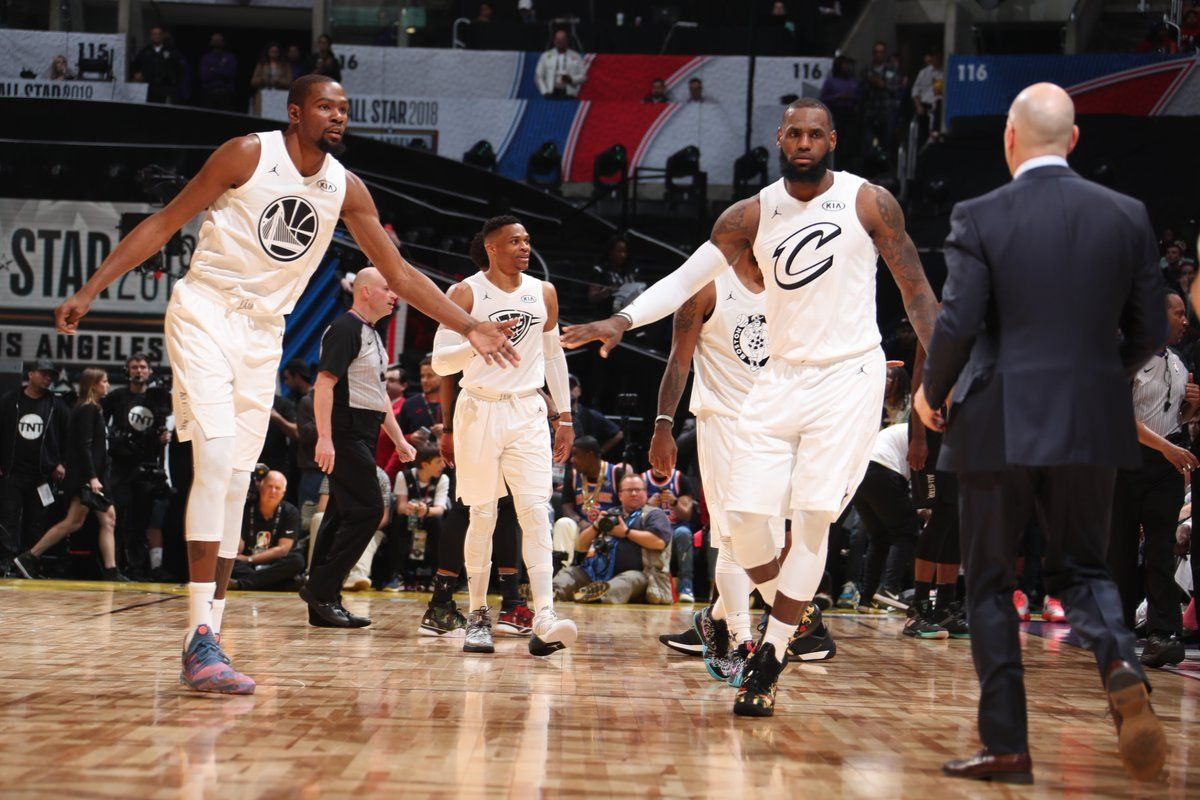 1b43da39b Kevin Durant and LeBron James at the NBA All Star Game 2018