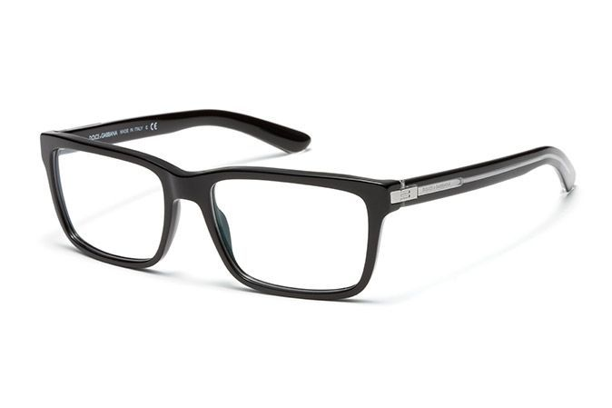 12528c92bd men's black nylon fiber eyeglasses with squared frame by Dolce & Gabbana  dg-3157