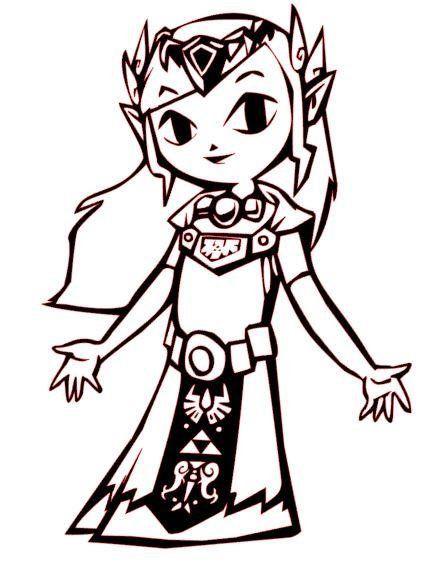 The Legend of Zelda: Wind Waker Princess Zelda Vinyl Decal for Car ...