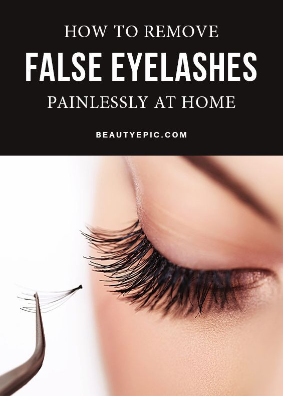 How To Remove False Eyelashes Painlessly At Home Diy Beauty