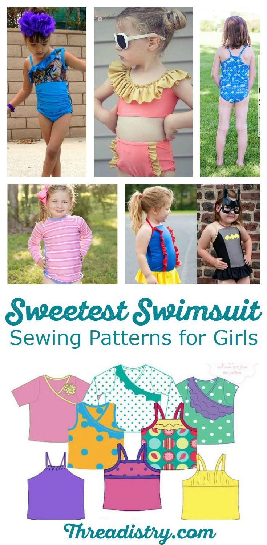 Sweetest Swimwear Sewing Patterns for Girls