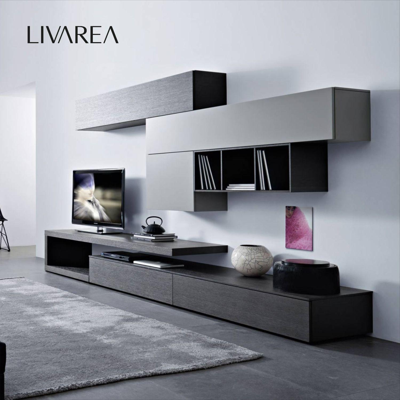 Livitalia Wohnwand C8 in 8  Wohnen, Wohnzimmermöbel