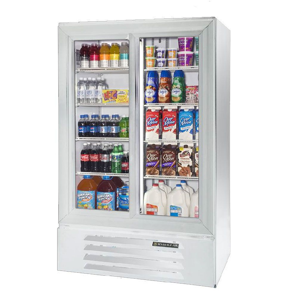 Beverage Air Lv17 1 W 54 White Lumavue Refrigerated Sliding Glass Door Pass Thru Merchandiser 17 5 Cu Ft