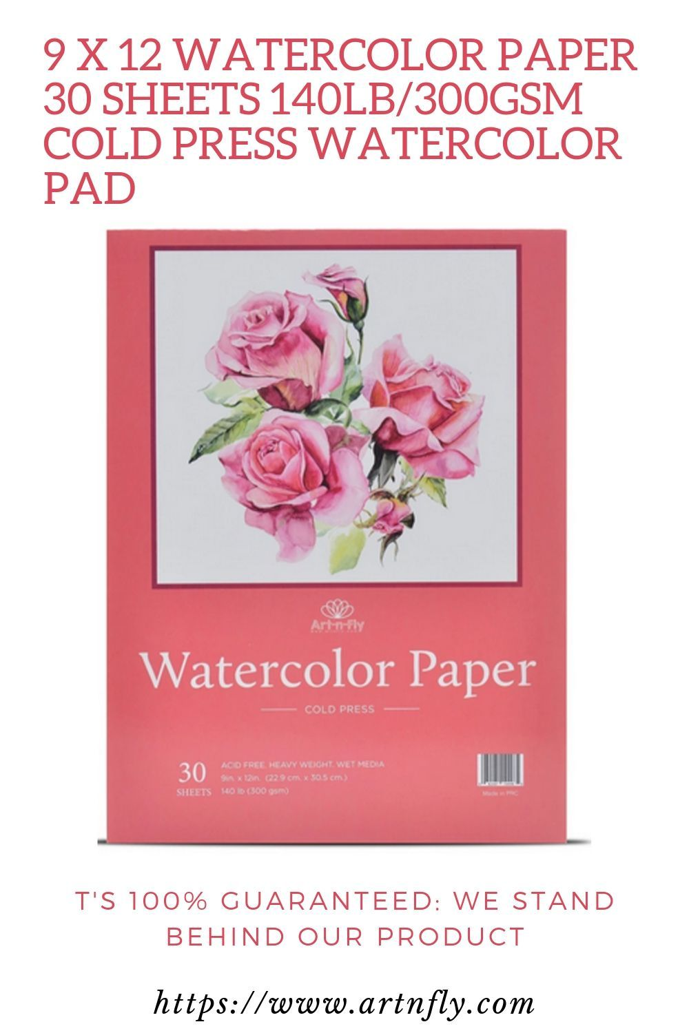 9 X 12 Watercolor Paper 30 Sheets 140lb 300gsm Cold Press