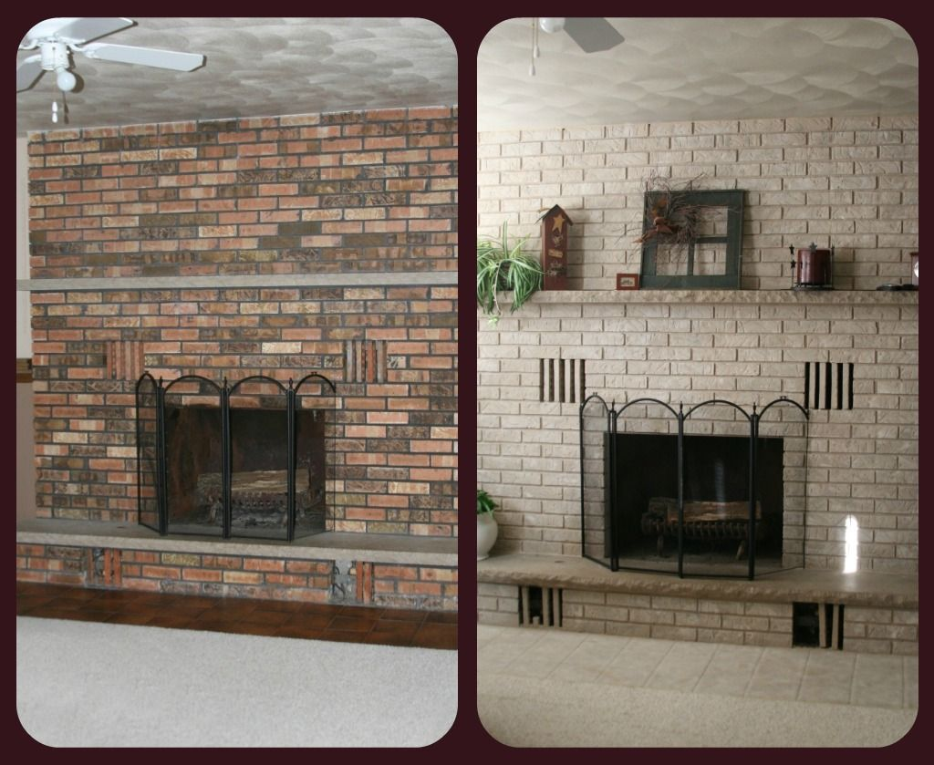 before and after remodeled brick fireplaces before u0026 after