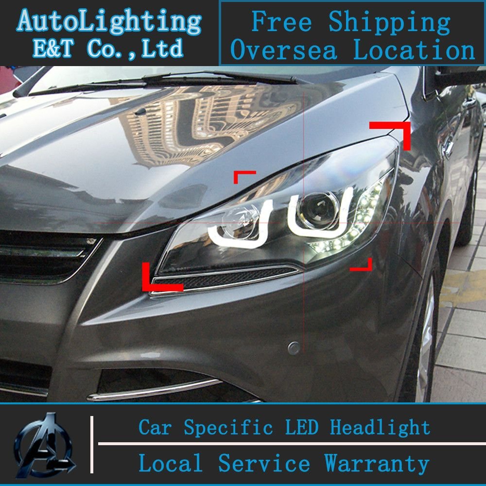 Car Styling Led Head Lamp For Ford Kuga Headlights 2014 Taiwan Fuse Box Escape Angel Eye Drl