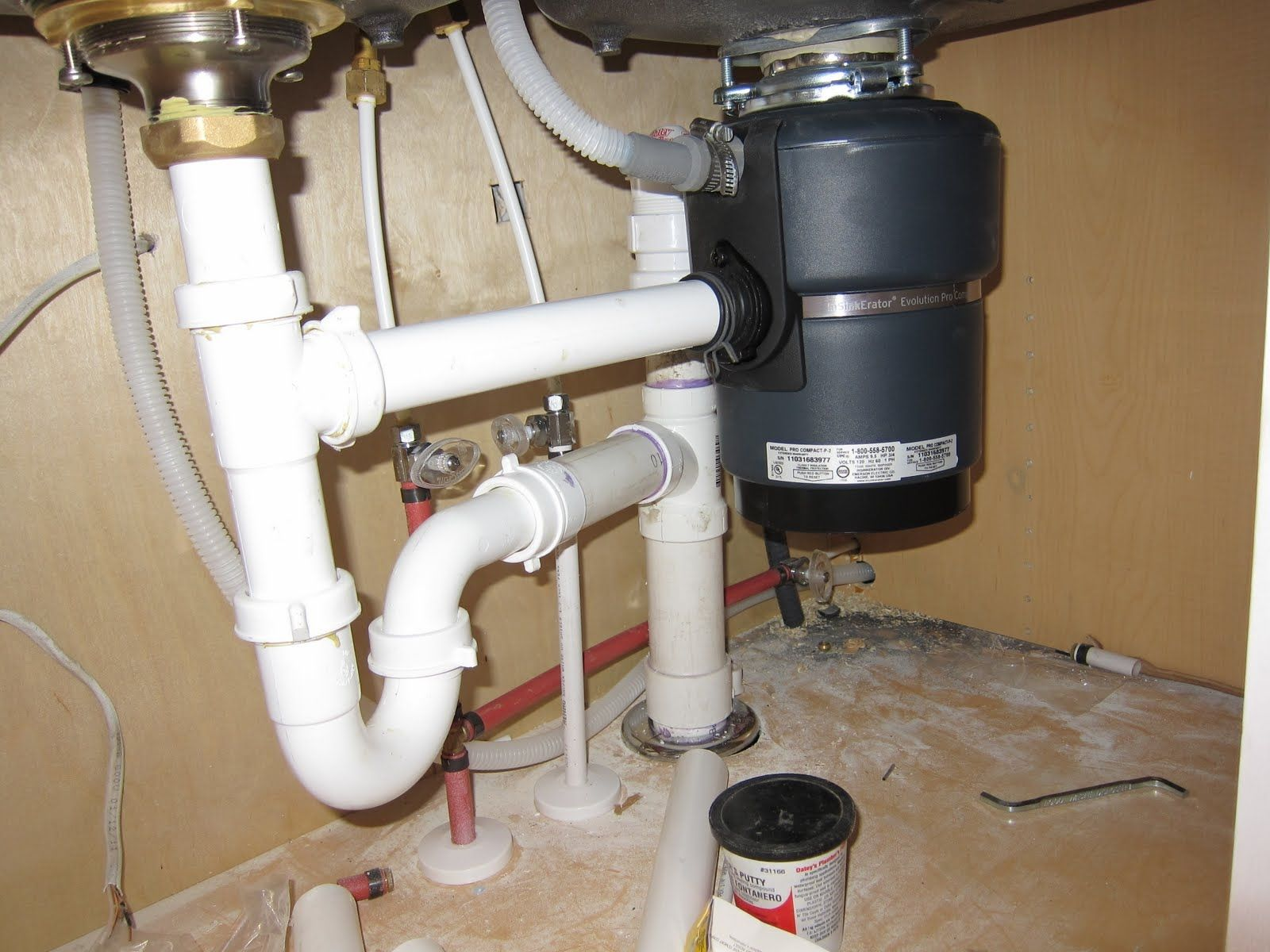 Kitchen Sink Garbage Disposal Plumbing