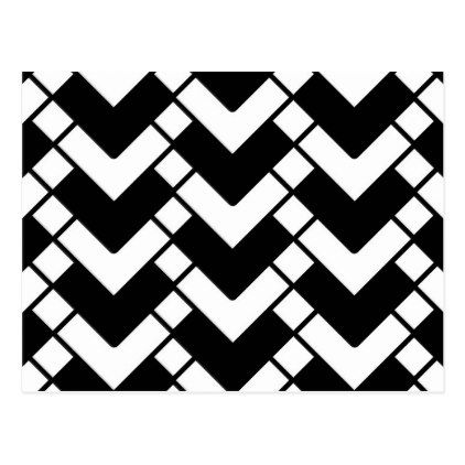 Black And White Postcard From >> Abstract Geometric Pattern Black And White Postcard Zazzle Com
