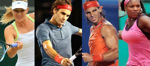 What do pro tennis players Nadal, Serena, Federrer and Sharapova all have in common?