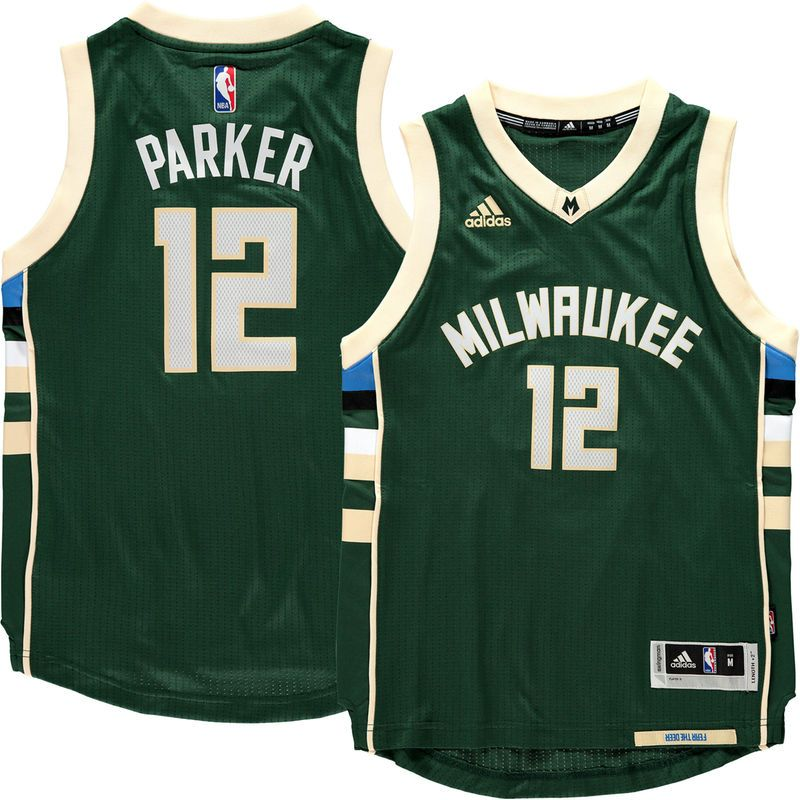 3003f7545e5 Jabari Parker Milwaukee Bucks Youth Road Swingman Jersey - Hunter Green