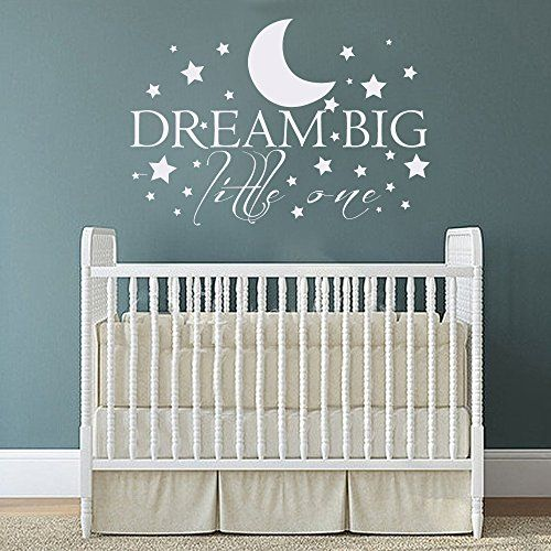 dream big little one with stars baby nursery wall decal s https