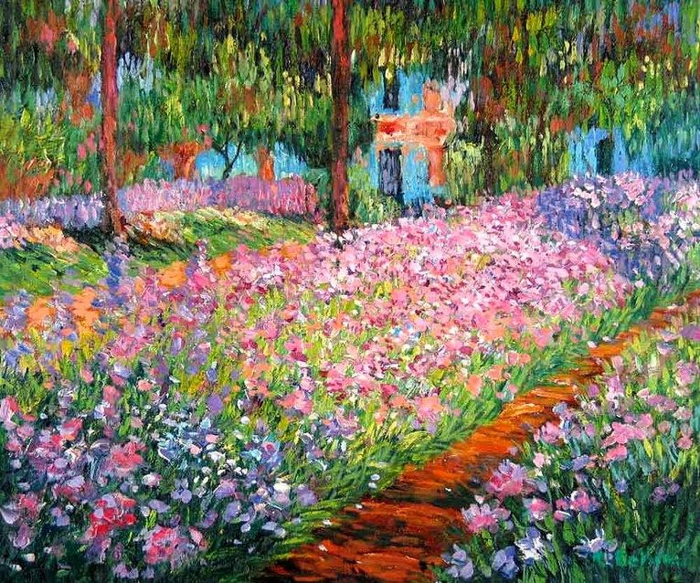 Claude monet garden at giverny paintings