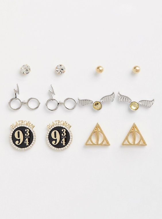 aa946b011 Harry Potter Earrings - Set of 6 in 2019 | Products | Harry potter ...