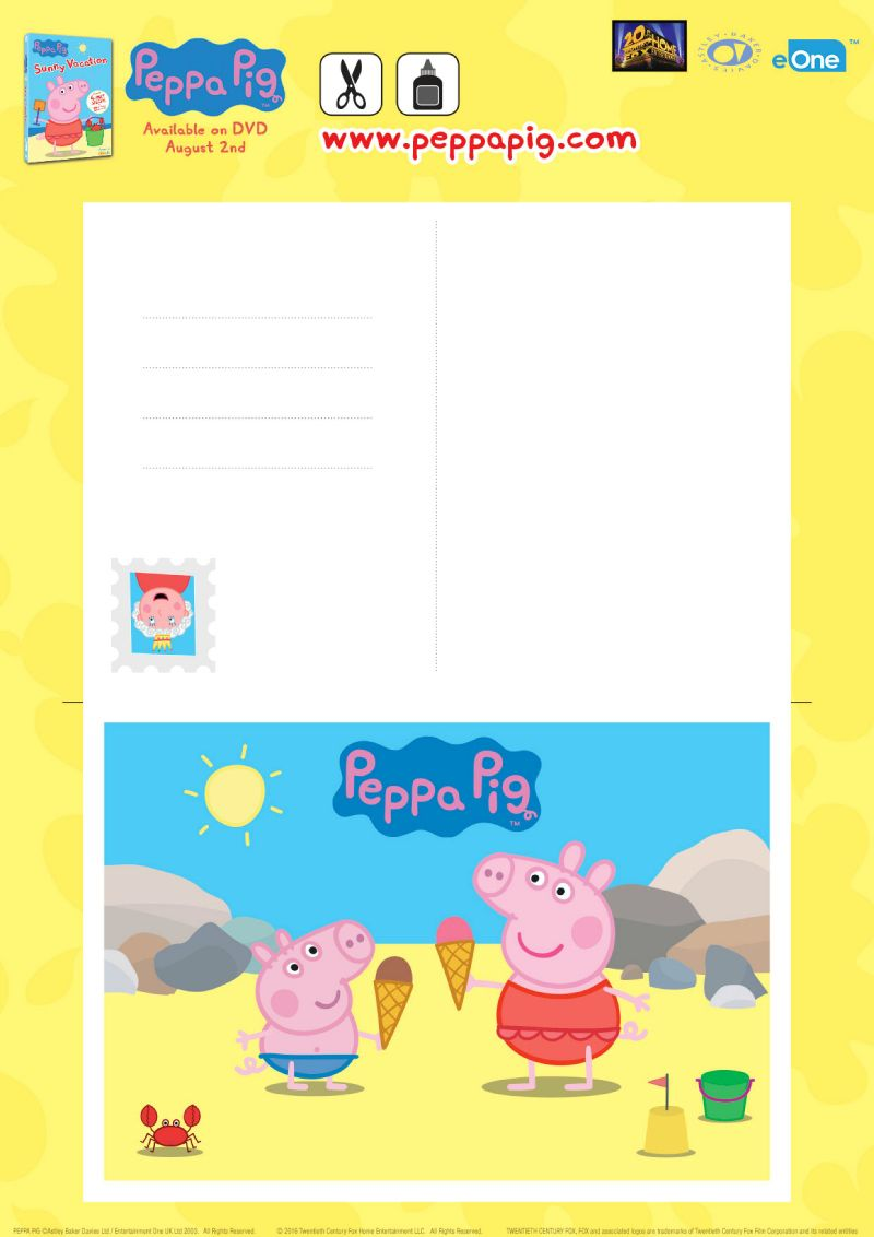 Printable Peppa Pig Card Craft Peppa Pig Card Craft Cards