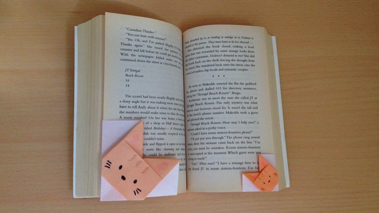 Niceno1origami Cat Bookmark Video Diagram Origami Quotswan Quyetquot